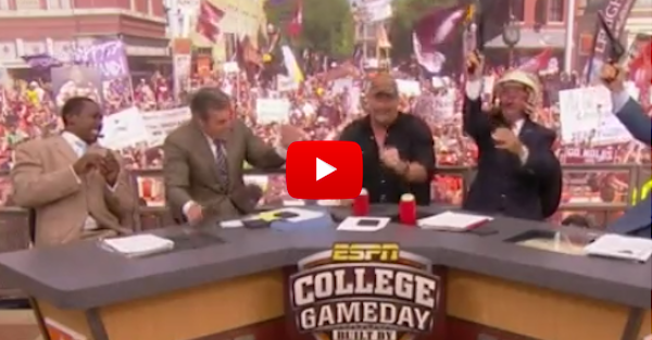Stone Cold Steve Austin joins College GameDay; Lee Corso drinks beer and shoots guns