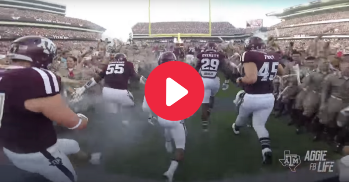 Experience Texas A&M's Thrilling Field Entrance In Go-Pro Video