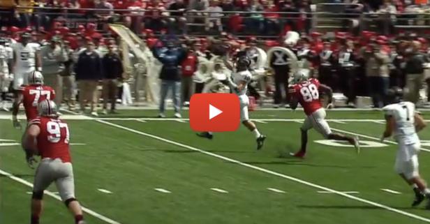 Kent State quarterback throws terrible pass
