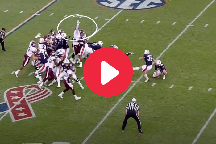 Myles Garrett's Monster Field Goal Block Helped A&M Upset Auburn