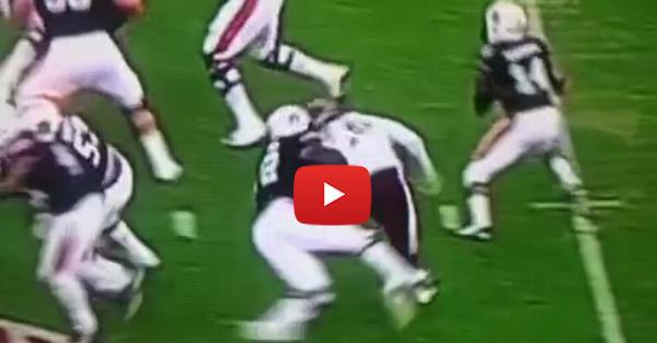 Myles Garrett gets tackled by Auburn LT; not called holding