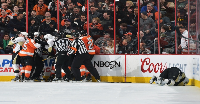 """Did Flyers orchestrate """"fight night"""" at local Steakhouse?"""