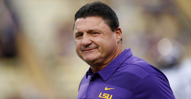 """Ed Orgeron Singing """"Hold That Tiger"""" on Voicemails Will Always Be Classic"""