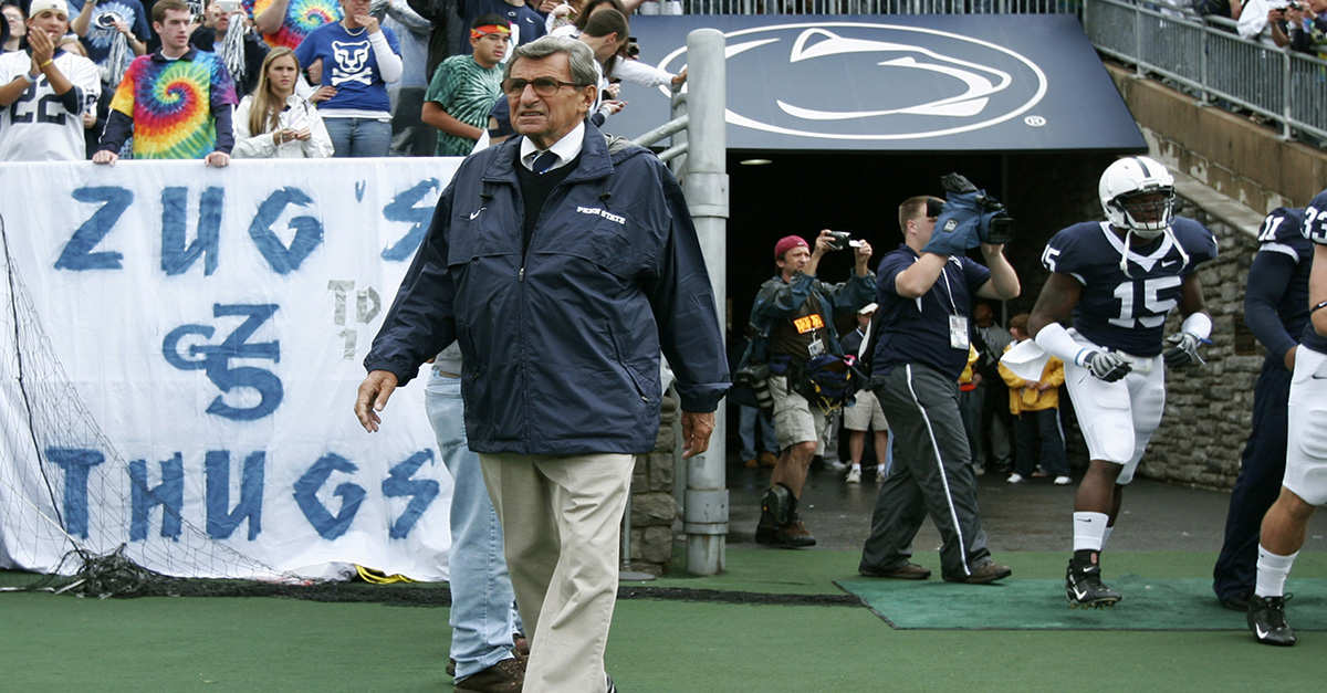 NCAA restores Joe Paterno's vacated wins, once again the winningest coach in Division I