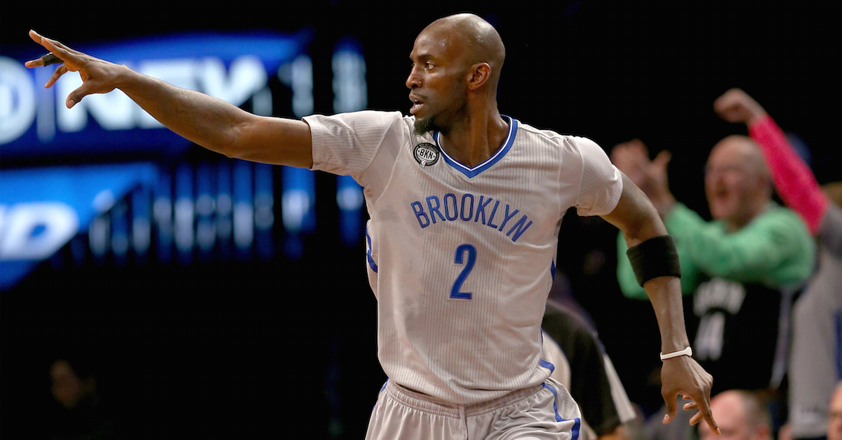 Kevin Garnett is just as crazy in the locker room as he is on the court