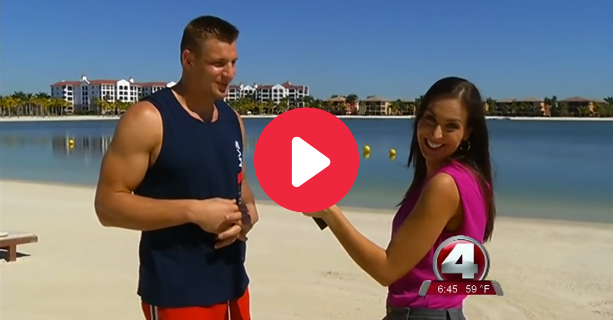 Rob Gronkowski Hits On Reporter in Forgotten Beach Interview