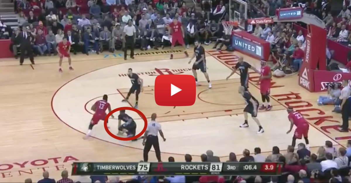 James Harden crumbles Ricky Rubio's ankles with brutal hesitation move