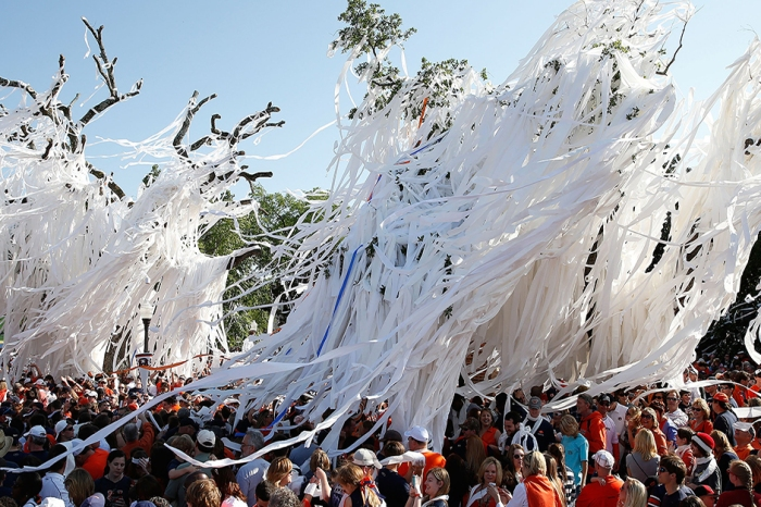 Rolling Toomer's Corner Is Auburn's Favorite Tradition