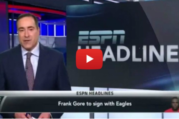 Eagles fans honor Frank Gore's tenure with the team with emotional tribute video