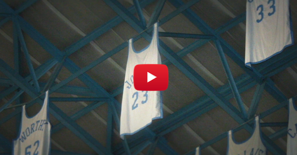 Once upon a time, Michael Jordan's jersey was stolen from the rafters
