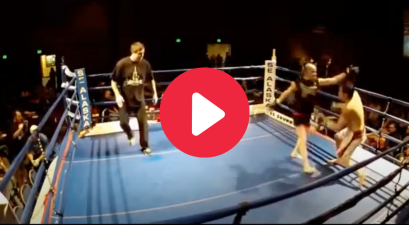 62-Year-Old Fighter's Spinning Backfist KOs Opponent Half His Age