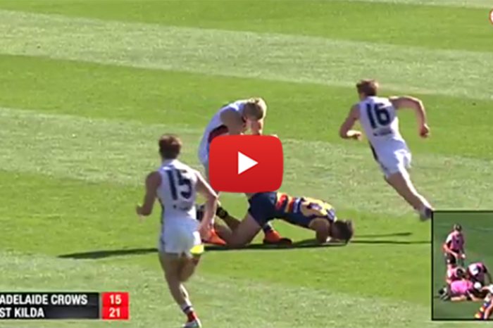 Australian Footballers Knock Each Other Out, Game Just Keeps Going