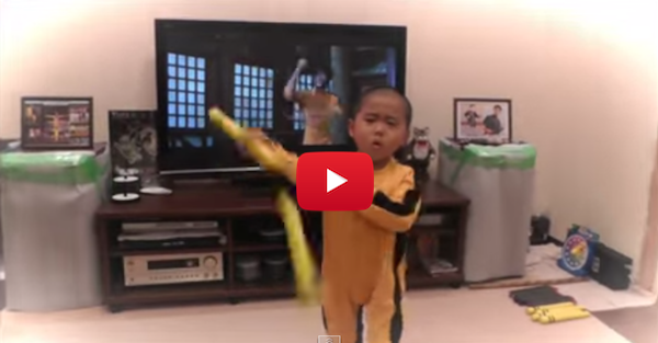 This five-year old will blow your mind with his Bruce Lee imitation