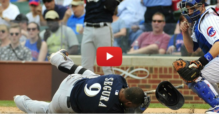 Brewers SS Jean Segura leaves game after getting hit in helmet