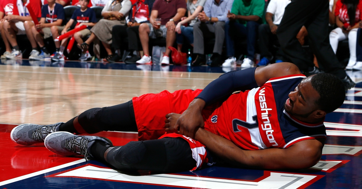 Wrist injury will keep John Wall out of Game 2 in Atlanta
