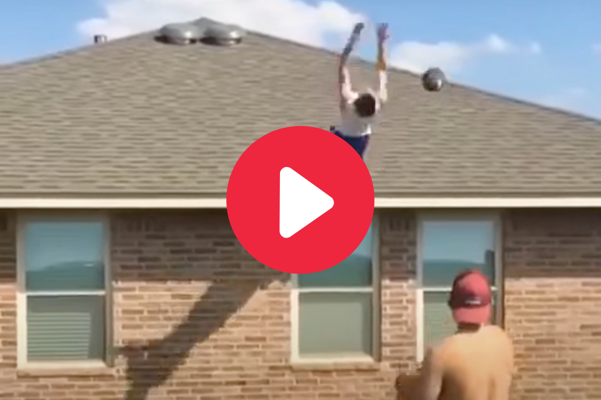 Backflip Catch Off Roof Goes Horribly Wrong