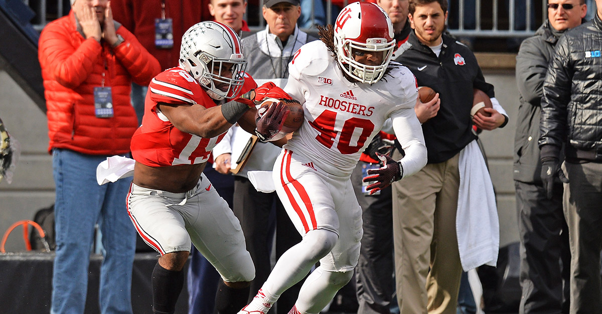 Indiana star safety and leading tackler arrested on serious drug charges