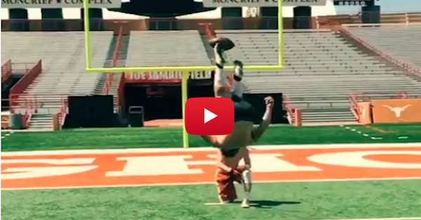 This Kicker's Backflip Field Goal is Basically Texas Longhorn History