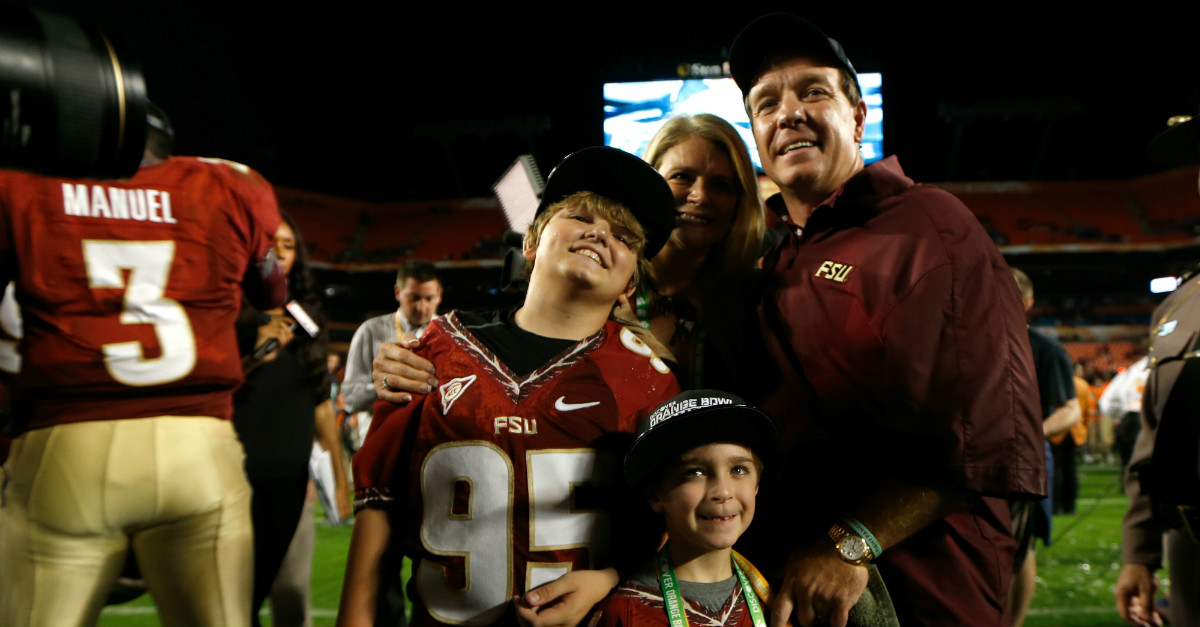 Fans are tweeting terrible things to Jimbo Fisher's wife after the couple separates (NSFW)