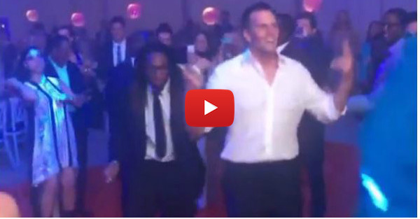 Here's Tom Brady, Rob Gronkowski having a dance battle during their Super Bowl ring ceremony