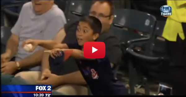 Young Indians fan snares foul ball, befriends Miguel Cabrera