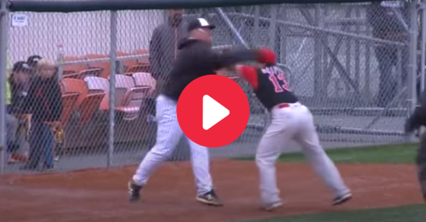 Coach Lands Haymaker In Alaskan Minor League Baseball Fight