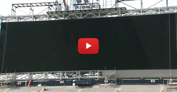 Auburn's new video board at Jordan-Hare Stadium is enormous