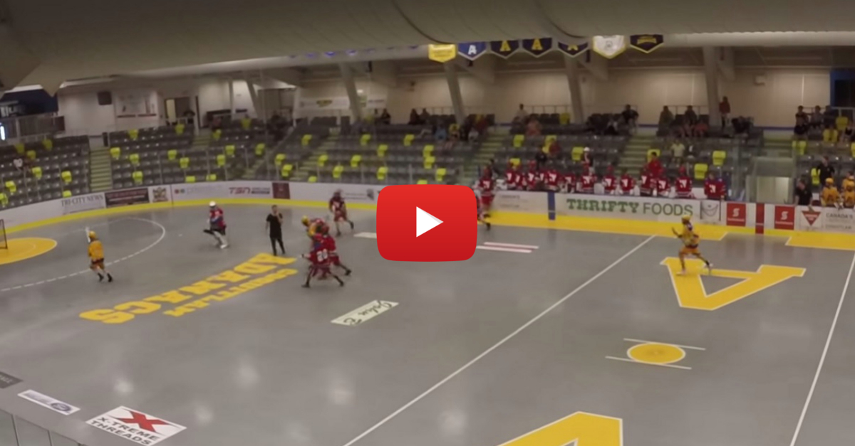 Brawl breaks out at lacrosse game after goalie gets leveled