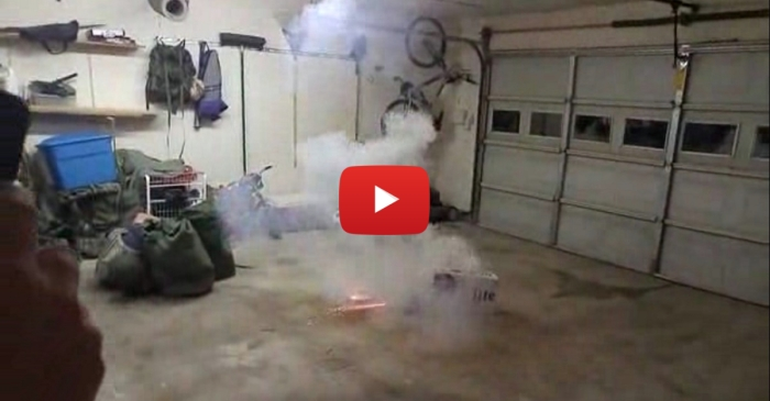Guys Light Firework in Closed Garage, And It Ended Terribly