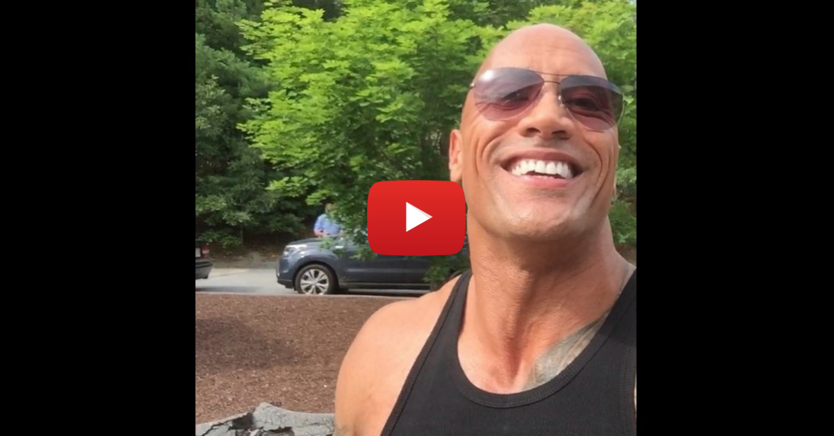 """Dwayne """"The Rock"""" Johnson dislocates his finger, happily shows it off"""