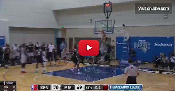The Miami Heat get a buzzer-beater win in Summer League