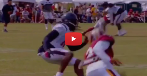 DeAndre Hopkins broke DeAngelo Hall's ankles on the field, then his spirit on the Internet