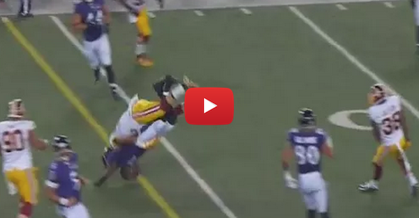 Redskins player lands one of the dirtiest hits you'll ever see, and chaos ensued