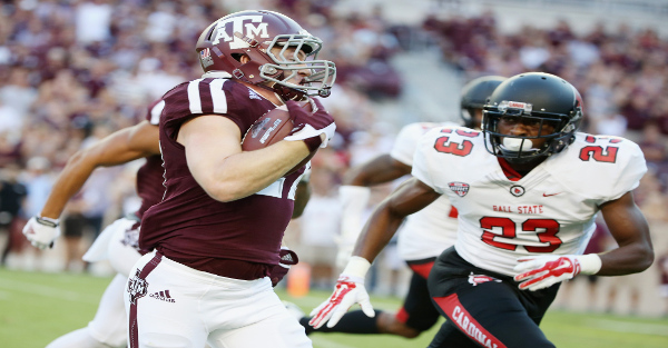 Texas A&M destroys Ball State 56-23