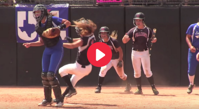 Dirty Softball Catcher Levels 2 Runners, Somehow Doesn't Get Ejected