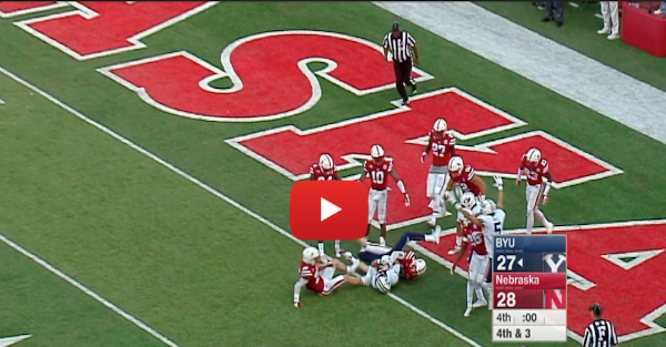 BYU converts an incredible Hail Mary touchdown pass to upset Nebraska at home