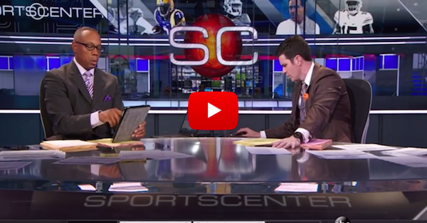 ESPN shows SportsCenter anchors during Dabo Swinney ...