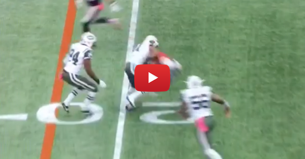 Julian Edelman gets absolutely laid out, but pops right back up like a champ