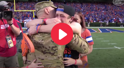 Dad Surprises Family In Tear-Jerking Military Homecoming Surprise