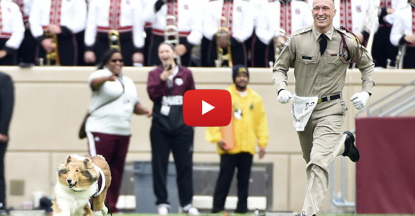 Texas A&M's Reveille was the most excited Aggie at Kyle Field and here's proof