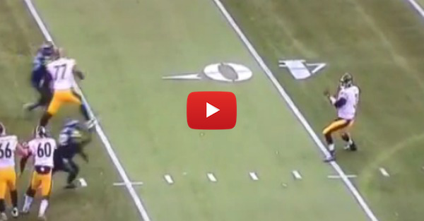 Landry Jones throws a perfect pass, but not to the guy he was aiming for