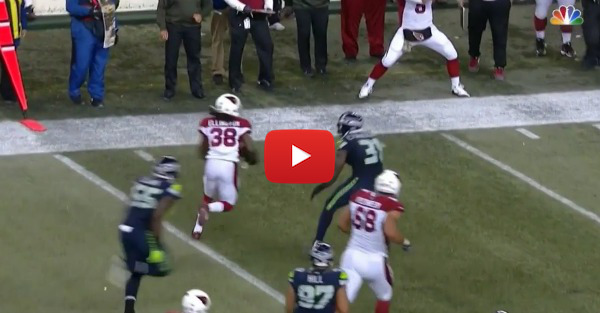 Cardinals reserve QB had the best celebration ever when Andre Ellington closed the door on Seahawks