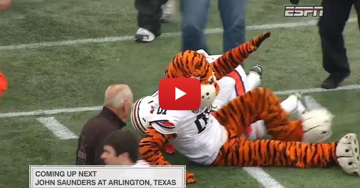 Watch Deshaun Davis tackle Aubie after the Birmingham Bowl win