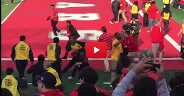 Houston security guard threw haymakers at field stormers, and now he's in trouble