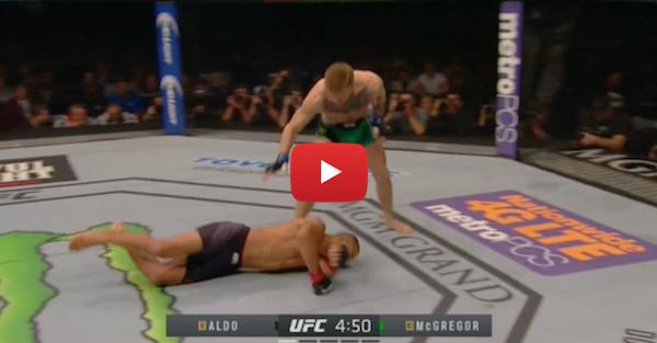 Conor McGregor one-punch KO'd Jose Aldo in shocking fashion