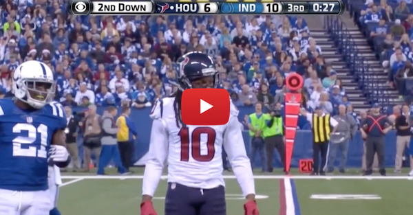 DeAndre Hopkins had a very NSFW message for this referee