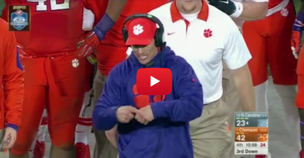 Brent Venables goes mad on the sidelines and it may be NSFW