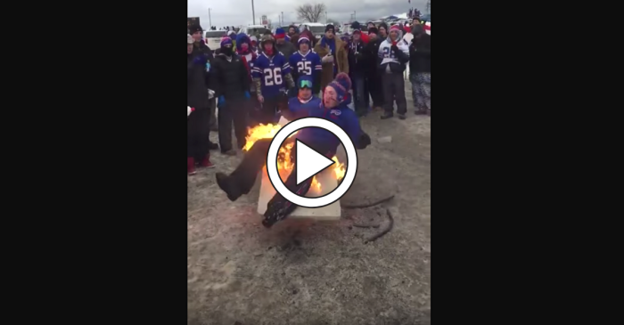 Tailgater Sets Himself on Fire, Friends Use Beer to Put It Out