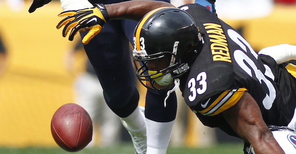 Some Steelers fans were blaming a retired running back for the team's loss Sunday, and here's why