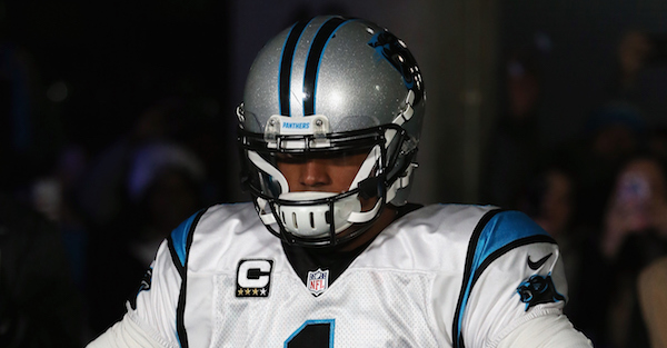 Cam Newton made his protest statement without saying a word on Sunday